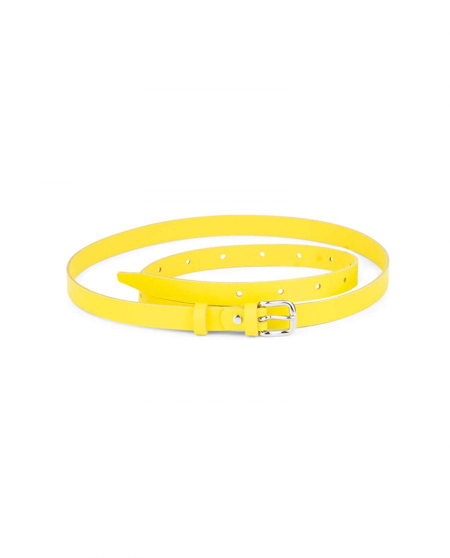 skinny womens yellow belt 15 mm sz28 40 4