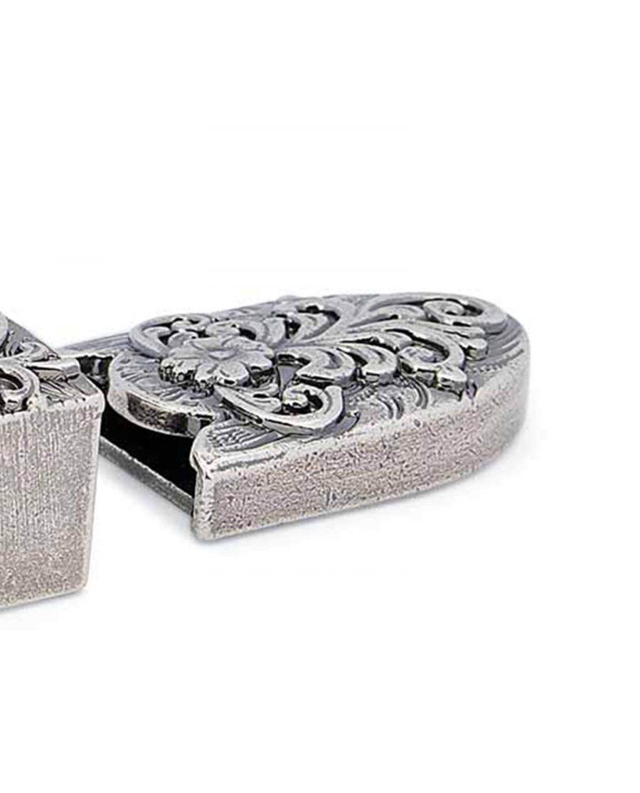 western belt tips antique silver 22mm 5usd 2