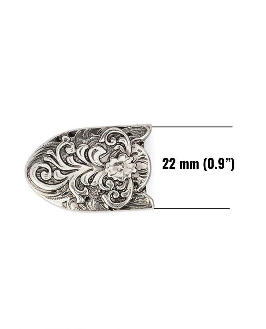 western belt tips antique silver 22mm 5usd 6