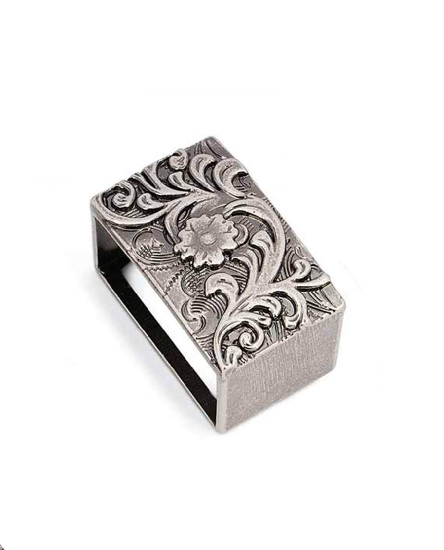 western loops for belt antique silver 25mm 5usd 0