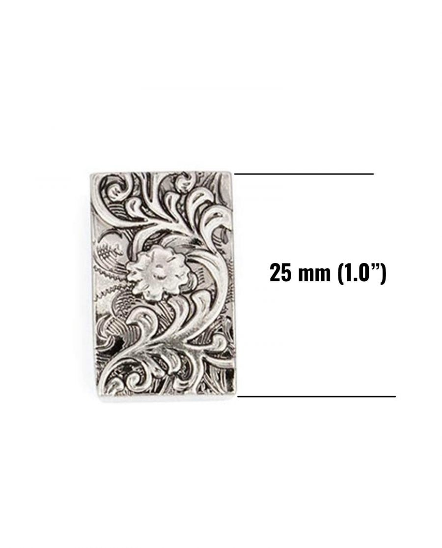 western loops for belt antique silver 25mm 5usd 1