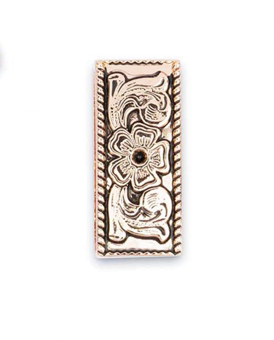western metal belt end tips rose gold 25mm 5usd 3