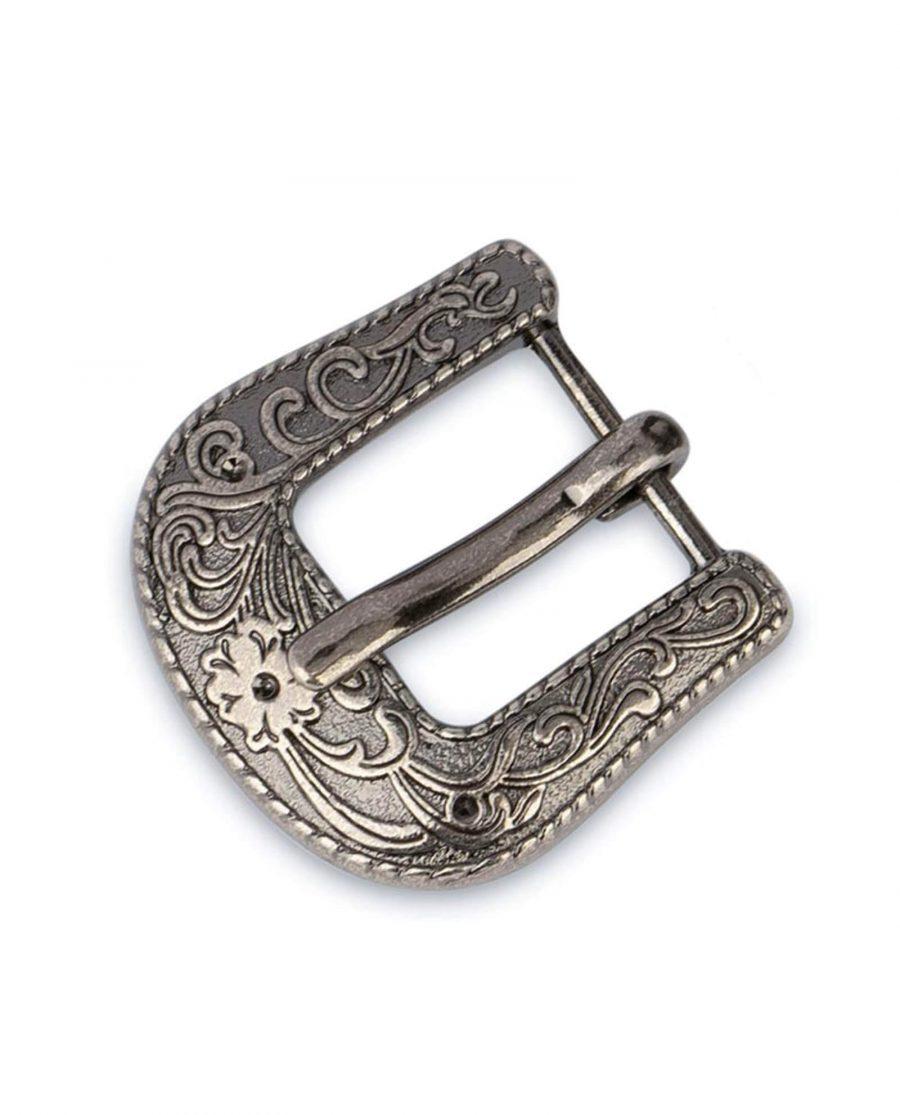 womens western belt buckle silver antique 15mm 10usd 1